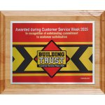 Choice of Digi-Color Plate on Deluxe Board Employee Awards