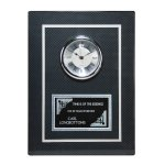 Carbon Fiber Clock Plaque Employee Awards