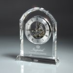Optic Crystal Desk Clock Employee Awards