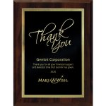 Simplicity Plate on Walnut Finish Board Employee Awards