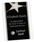 Silver Star Acrylic Stand Up Plaque Employee Awards