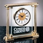 Glass Mantel Clock Executive Gift Awards