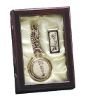 Golf Pocket Watch and Money Clip in Box Golf Awards