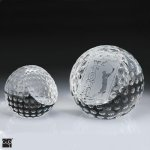 Golf Ball Paper Weight Crystal Award Golf Awards