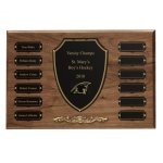 Cast Bronze Trim Perpetual Plaque Golf Awards