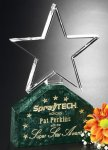 Verdant Star Green Optical Crystal Awards