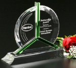 Tribute Award Green Optical Crystal Awards
