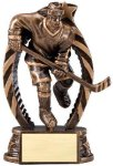 Antique Bronze and Gold Hockey Female Award Hockey Trophy Awards
