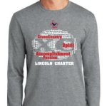 PC55LS Long Sleeve T-shirt - Athletic Heather Lincoln Charter Cross Country