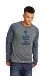 AA32022-Fleece Sweatshirt-Eco Grey/ Eco True Navy Lincoln Charter School