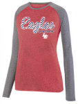 2817 - LADIES KINERGY TWO COLOR LONG SLEEVE RAGLAN TEE Lincoln Charter School