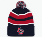 21 - 641K Loose-Fit Pom-Pom Knit - Navy, Red, White Lincoln Charter School
