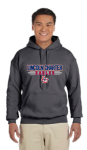 G185 - Charcoal 50/50 Hooded Sweat Shirt - YOUTH - ADULT Lincoln Charter School