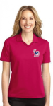 L455 - Ladies Red Poly/Cotton Blend Heavyweight Polo Lincoln Charter School