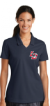 354067 - Ladies Navy Nike Solid Polo Lincoln Charter School