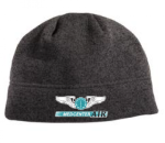 Port Authority® Heathered Knit Beanie. Black Heather Charcoal MedCenter Air