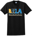 Black T-shirt Logo D Mountain Island Lake Academy