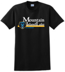 Black T-shirt Logo E Mountain Island Lake Academy