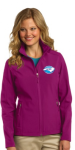 L317 - Ladies Soft Shell Jacket - Wild Berry NC Society for Respiratory Care