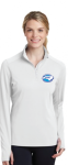 LST860 - Ladies Sport-Wick Textured 1/4-Zip Pullover - White NC Society for Respiratory Care