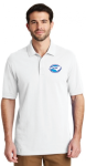 K8000 - EZCotton Polo - White NC Society for Respiratory Care