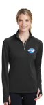 LST860 - Ladies Sport-Wick Textured 1/4-Zip Pullover - Black NC Society for Respiratory Care