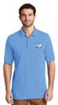 K8000 - EZCotton Polo - Azure Blue NC Society for Respiratory Care