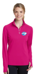 LST860 - Ladies Sport-Wick Textured 1/4-Zip Pullover - Pink Raspberry NC Society for Respiratory Care