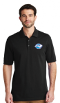 K8000 - EZCotton Polo - Black North Carolina Society for Respiratory Care