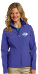 L317 - Ladies Soft Shell Jacket - True Royal North Carolina Society for Respiratory Care
