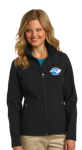 L317 - Ladies Soft Shell Jacket - Black North Carolina Society for Respiratory Care