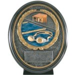 Swimming Resin Oval Oval Resin Trophy Awards