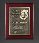 Cherry Finished Panel and Gold Tone Plate Religious Awards