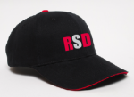 121C BRUSHED TWILL - BLACK/RED HAT Rhonda's School of Dance