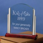 Lift-Out Glass Rosewood Glass Awards