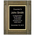 Deep Groove Solid Walnut Plaque Sales Awards