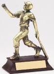 Softball Metallic Figure Signature Rosewood Resin Trophy Awards