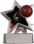 Basketball - Silver Star Motion Resin Series Silver Star Motion Resin Trophy Awards