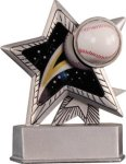 Baseball - Silver Star Motion Resin Series Silver Star Motion Resin Trophy Awards