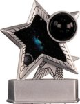 Bowling - Silver Star Motion Resin Trophy Silver Star Motion Resin Trophy Awards