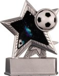 Soccer - Silver Star Motion Series Resin Silver Star Motion Resin Trophy Awards