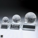 Desk Top Golf Ball Crystal Award Sport Crystal Awards