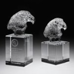 Eagle Head II Crystal Award Square Rectangle Awards