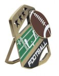 Football Color Medal Free Standing Or With Ribbon Star Awards
