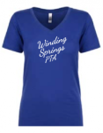 N1540 Next Level Ladies Ideal V - Royal Blue Winding Springs Elementary