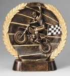 Resin Plate Motocross Wreath Mini Resin Trophy Awards