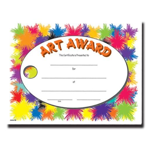 art certificate fill in the blank certificates