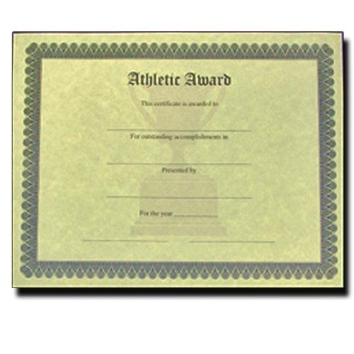 athletic award antique parchment certificate fill in the blank